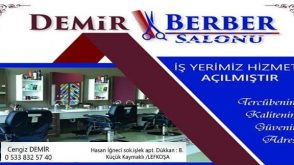 Demir Berber Salonu Lefkoşa'da Hizmete Başladı