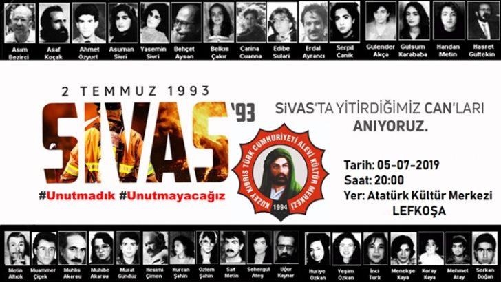 KKTC Alevi Kültür Merkezi Sivas Katliamını Anma Programı Düzenliyor